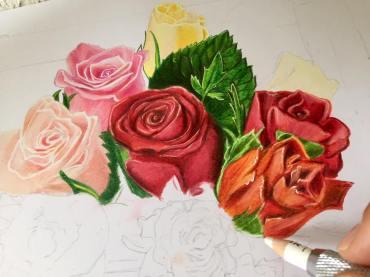 tablou flori